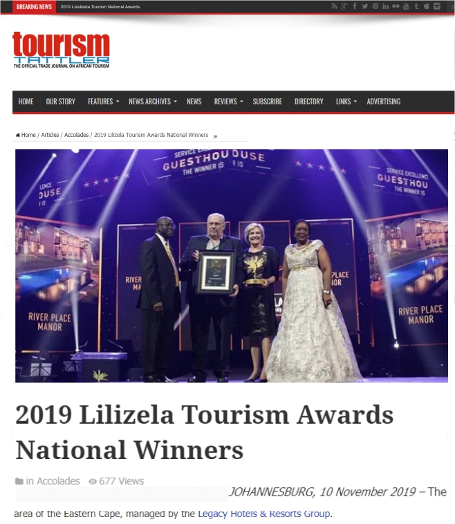 Ashia Cheetah Conservation_2019_Lilizela_Tourism_Awards_National Winners_10 Nov_2019
