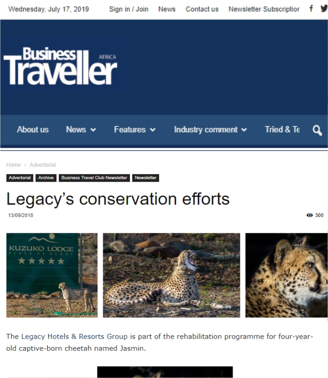 Ashia Cheetah Conservation_Business Traveller Africa_17 July 2019